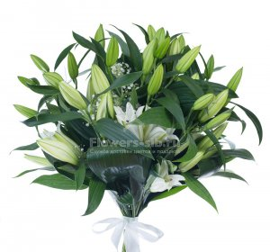Bouquet of 9 lilies